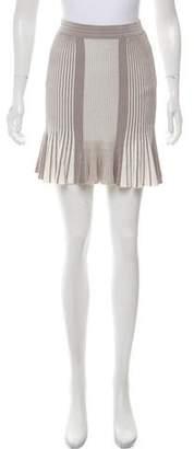 Ronny Kobo Ribbed Mini Skirt
