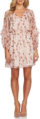 CeCe Bohemian Garden Ruffle Sleeve Mini Dress