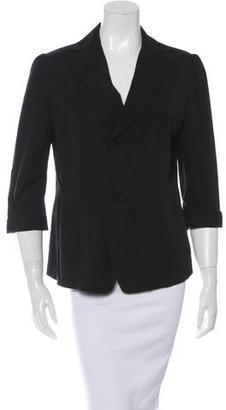 Yohji Yamamoto Double-Breasted Three-Quarter Sleeve Blazer $95 thestylecure.com