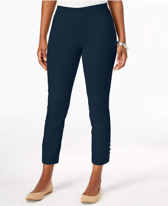 JM Collection Petite Laced-Hem Bootcut Pants, Created for Macy's