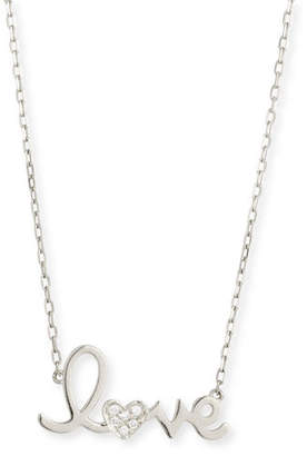 "Sydney Evan 14k Gold Diamond ""Love"" Necklace"