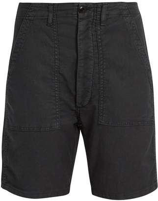 The Great The Army low-slung woven shorts