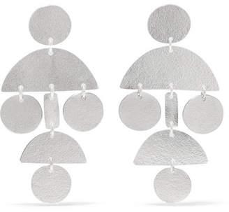 Annie Costello Brown - Mini Pompom Silver Earrings