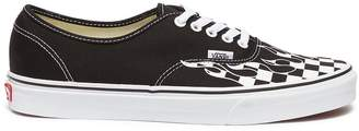 Vans 'Authentic' checkerboard flame canvas sneakers