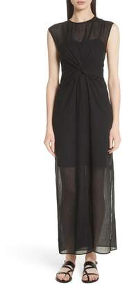 Theory Knot Front Maxi Dress