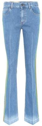 Gucci Web-trim flared jeans