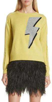 Robert Rodriguez Lightning Bolt Wool & Cashmere Sweater
