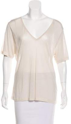 J Brand Short Sleeve V-Neck Top