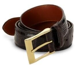 Saks Fifth Avenue Crocodile Leather Belt