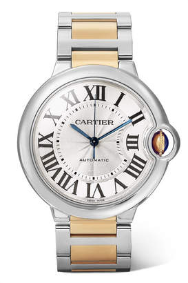 Cartier Ballon Bleu De 36.6mm 18-karat Gold And Stainless Steel Watch