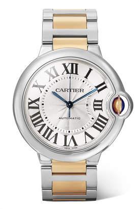 Cartier Ballon Bleu De 36.6mm 18-karat Gold And Stainless Steel Watch