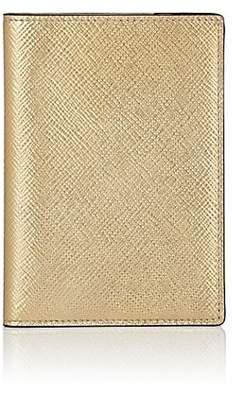 Smythson Men's Panama Leather Passport Cover - Gold