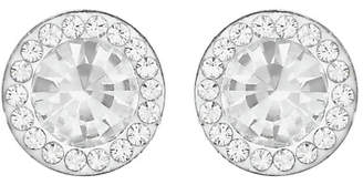 Evoke Rhodium Plated Sterling Silver Crystal Halo Studs