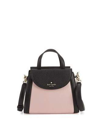Kate Spade New York Cobble Hill Adrien Small Satchel Bag, Pink Granite/Multi $328 thestylecure.com