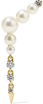 Jemma Wynne - 18-karat Gold, Pearl And Diamond Earring
