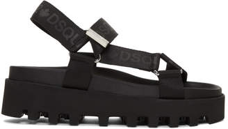 DSQUARED2 Black Acid Punk Sandals