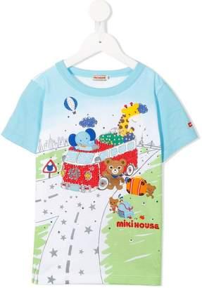Mikihouse Miki House printed T-shirt