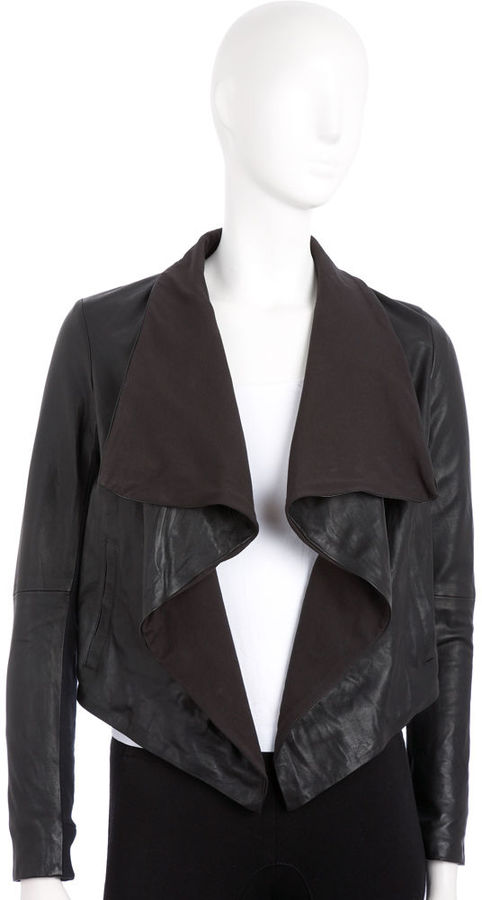 Theory Robena Leather Jacket - Black