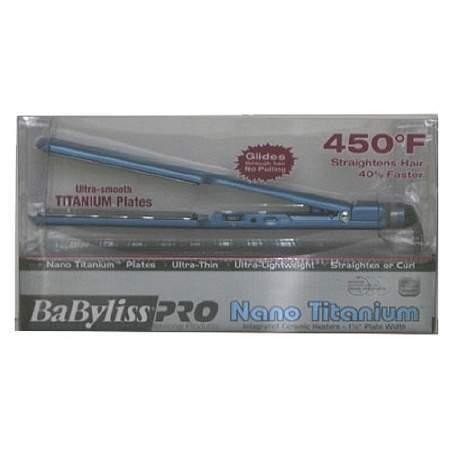 "BabylissBaByliss PRO Nano Titanium Ultra Thin Straightener 1 1/2"""