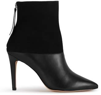 Reiss Breton - Metallic-trim Ankle Boots in Black, Womens