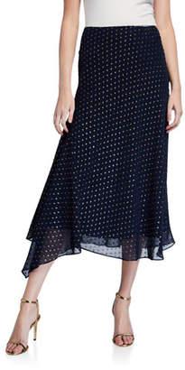 Mestiza New York Rosia Metallic Dot Asymmetric Midi Skirt