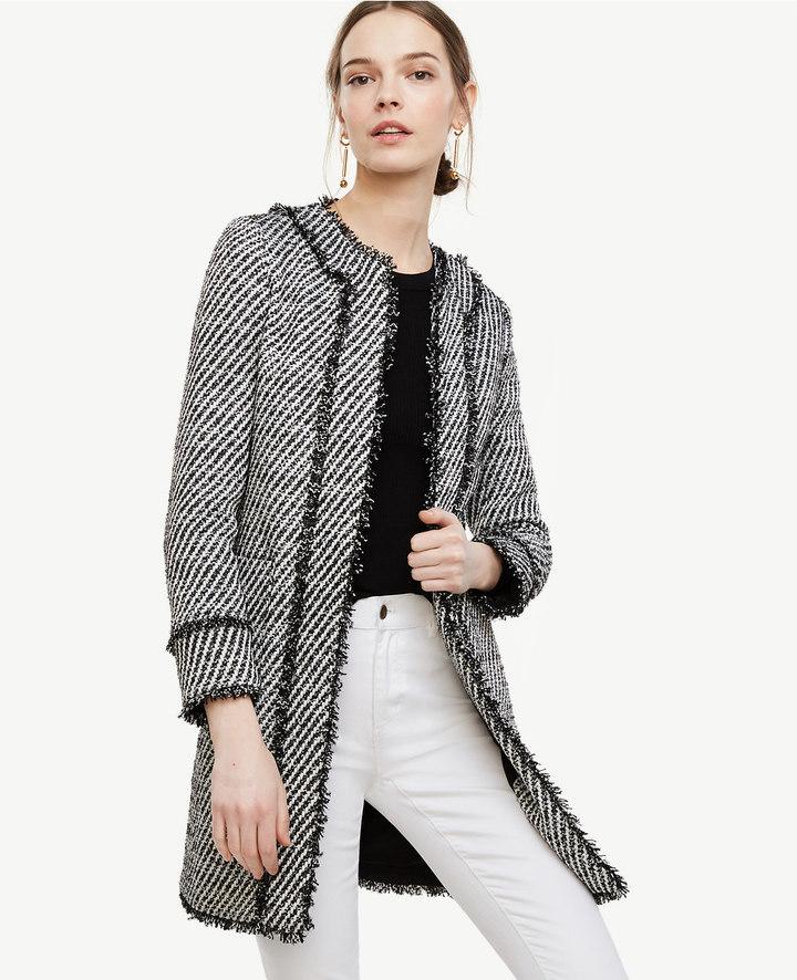Ann TaylorFringe Trim Top Coat