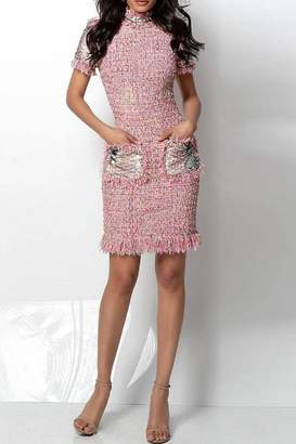 Jovani Short Sleeve Dress