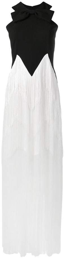 fringed long dress