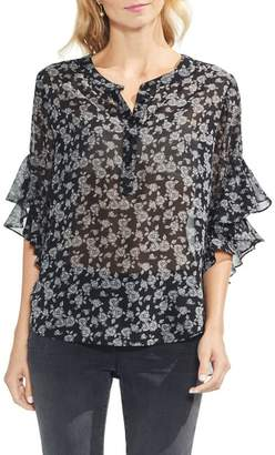 Vince Camuto Ditsy Roses Henley Top