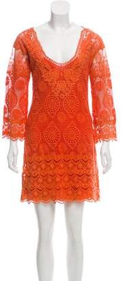 Yoana Baraschi Mini Eyelet Dress