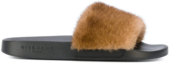 Givenchy fur slider sandals