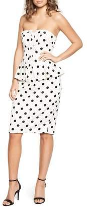 Bardot Suri Polka Dot Peplum Dress
