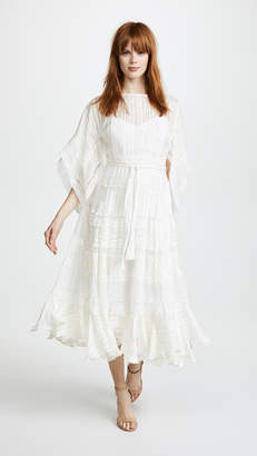 Zimmermann White Wave Veil Dress