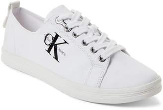 Calvin Klein White Monna Logo Low-Top Sneakers