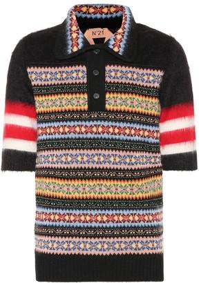 N°21 Wool and mohair-blend polo shirt