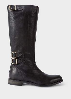 Paul Smith Women's Black Leather 'Kings' Boots