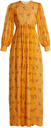 Emilia Wickstead Pia rose-print silk-chiffon dress