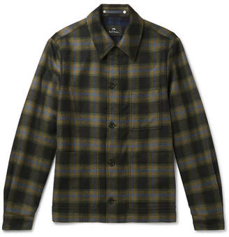 ef01e3d2f8f Paul Smith Checked Wool-Blend Shirt Jacket