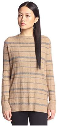 Cashmere Addiction Women's Plaid Tunic Sweater,M