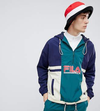 Fila overhead 1/2 zip color block shell jacket in navy