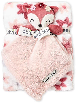 Baby Essentials Chick Pea (Newborn Girls) Two-Piece Plush Cuddle Buddy & Blanket Set