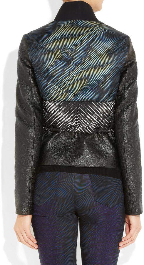 Peter Pilotto Ri printed quilted and textured jacket