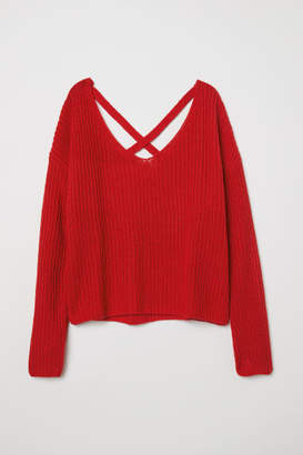 H&M V-neck Sweater - Red
