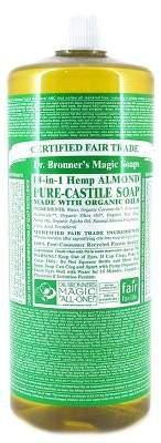 Dr. Bronner's Dr Bronners Organic Almond Castile Liquid Soap 946Ml