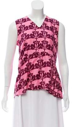 Marni Silk Printed Sleeveless Top