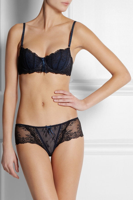 Elle Macpherson Intimates Dentelle lace and stretch-mesh briefs