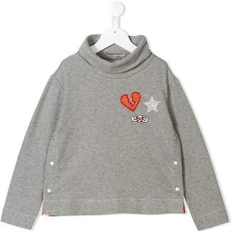 Ermanno Scervino glitter patch sweatshirt