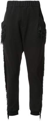 Baja East fringed track pants