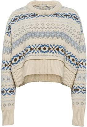 Miu Miu jacquard knit jumper