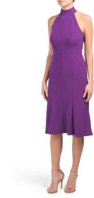 Halter Midi Flounce Dress